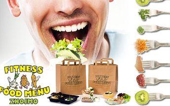Dvacetidenní Fitness food menu s pěti jídly denně a rozvozem zdarma po celém Znojmě.