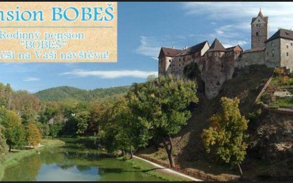 Skvělý víkend na Karlovarsku - 3 dní/ 4 noci se snídaněmi a kachní hostinou v Penzionu Bobeš v Kynšperku nad Ohří za vynikající cenu 1795 Kč pro 2 v červnu-září! Skvělá základna pro poznání Karlovarska!