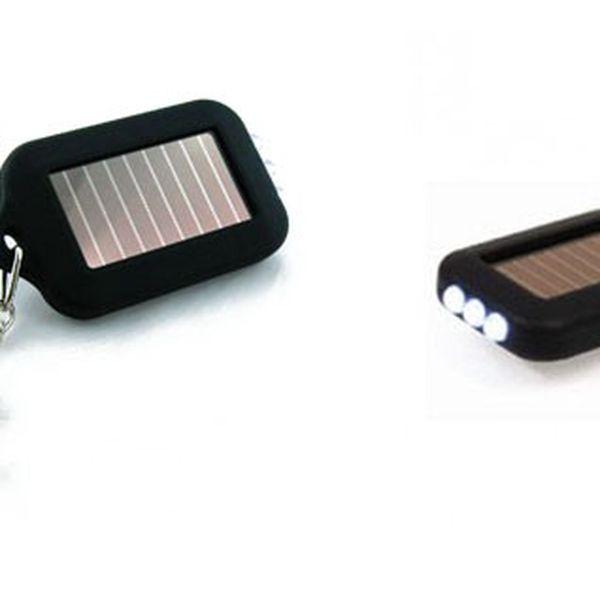 Užitečný přívěšek na klíče - to je solární klíčenka se 3 LED diodami! Již nikdy nebudete po tmě nic hledat se slevou 76%!