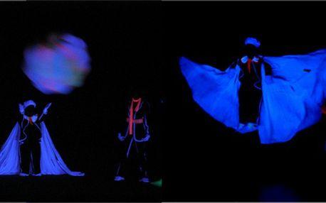 Show černého divadla spojenou s večery tance - videoparty 80-tých let! Představení 4. 5. a 11. 5!