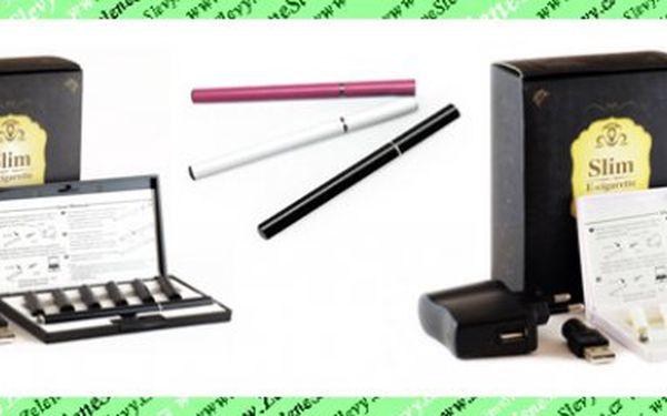 Jen u nás Elektronická cigareta PRO DAMY E-slim + 20 náplní pouze za neuvěřitelných 309 Kč vč. POŠTY!!!Barva černá,bílá nebo růžová.