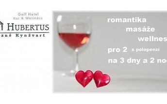 Romantický lázeňský pobyt plný pohody a wellness v hotelu hubertus v lázních kynžvart pro dva s polopenzí!
