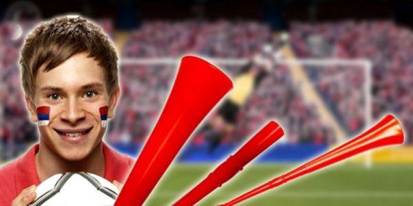 Skládací červená vuvuzela! Nyní jen 99 Kč za 2 kusy! Pořiďte si skládací vuvuzelu a podpořte svůj oblíbený team! Pro začínající MISTROVSTVÍ jako děláná! Sleva 63%!