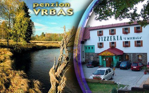 Dovolená na 4 dny pro 2 osoby v penzionu Vrbas v nádherné šumavské přírodě se snídaněmi.