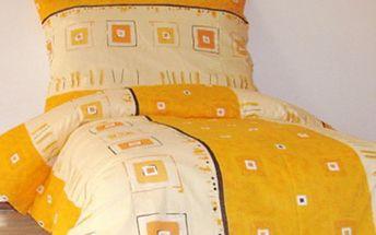 BAVLNĚNÉ POVLEČENÍ na 2 postele: moderní vzory, česká výroba Luxusní bavlněné povlečení na dvě postele. 2 povlaky na polštář 70x90 cm a 2 na peřiny 140x200 cm, zapínání na knoflíky. Příjemné a kvalitní povlečení české výroby.