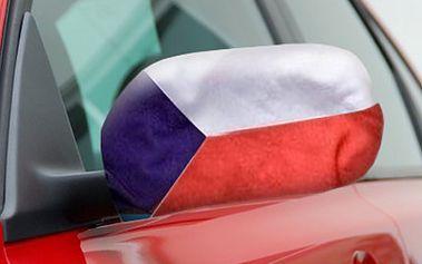 2 NÁVLEKY s českou vlajkou na zrcátka: fanděte našim sportovcům 2 ks návleků na zpětná zrcátka auta s potiskem české vlajky. Podpořte české sportovce - MS v ledním hokeji, ME ve fotbale, Olympijské hry.