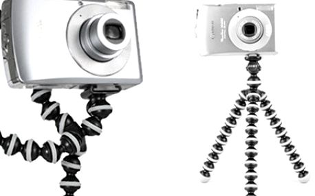 FLEXIBILNÍ STATIV na focení - tripod Stativ v moderním designu, lehce nastavitelný a plně kompatibilní se všemi fotoaparáty. Kloubová konstrukce umožňuje připevnění kamkoliv. Zachyťte každý okamžik.