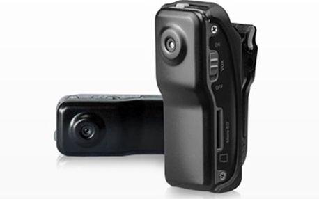 KAMERA Mini DV MD80 spy cam včetně doručení Vysoká kvalita záznamu a rozlišení, možnost užít jako webkameru, výdrž baterie 1,5 hodiny záznamu. Oceňte malé rozměry kamery a mějte ji vždy a všude neustále po ruce.