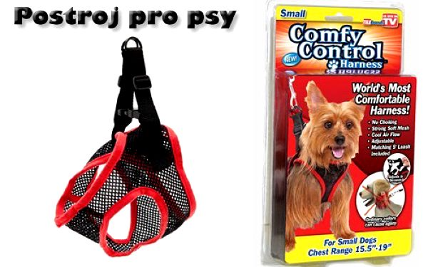 Postroj pro psy - malá plemena - Comfy Control za 199,- Kč včetně poštovného! Konec škrcení Vašeho miláčka na klasickém obojku!