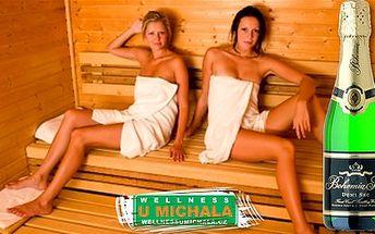 Celé 2 hodiny sauny a vířivé vany až pro 6 lidí za pouhých 349 Kč včetně láhve Bohemia Sektu! Užijte si naplno jen Vy nebo i Vašich 5 přátel v soukromí dokonalý relax ve Wellness U Michala s 50% slevou!