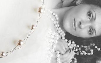 434,- Kč za náhrdelník s perlami a krystaly Swarovski! Romantický dárek pro všechny slečny a dámy! Sleva 50%!