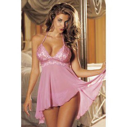 něžná sexy růžová košilka a tanga jen za 399kč místo 900kč od www.kosilky.biz