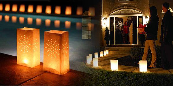 5 ks dekorativních svítilen pro čajové svíčky! Dodejte své párty nebo oslavě nádech romantiky!