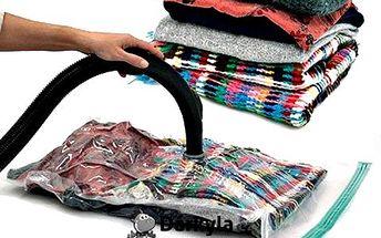 4 vakuové pytle: skladujte věci hygienicky a efektivně. Ušetříte až 80 % místa! Hodí se na oblečení, lůžkoviny, plyšáky... Opětovné použití!
