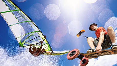 Celodenní kurz windsurfingu a kitingu u Nechranické přehrady včetně dopravy tam i zpět s kompletním technickým i bezpečnostním vybavením!