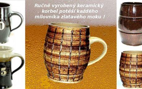 Ručně vyrobený keramický korbel 0,5l ! Pouze 173 Kč za ručně vyrobený keramický korbel české výroby, který zaručeně udělá radost každému příznivci zlatavého moku ! Nyní za poloviční cenu !