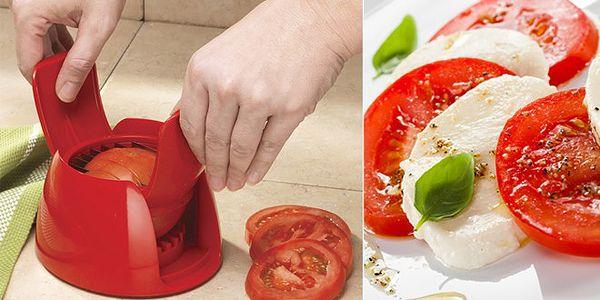 Praktický pomocník do domácnosti – efektivní kráječ na rajčata, sýry, ovoce a zeleninu jen za 129 Kč. Během chviličky připravíte souměrné plátky bez úsilí. Zjednodušte si život se svetovenovinky.cz