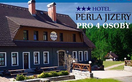 """13 800 Kč za letní dovolenou v Jizerkách 7 nocí pro 4 s polopenzí v hotelu Perla Jizery*** + 2x ruská nebo finská sauna, sekt a jahody a k tomu 2x zapůjčení 4 kol v ceně! Relax i romantika v hotelu Perla Jizery*** v Jizerských horách. Milujete skvělé jídlo, pohodlné ubytování, krásnou přírodu a relax v sauně? Nezbývá než stisknout """"koupit"""" !"""
