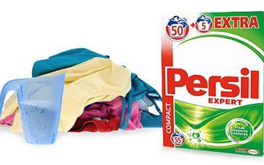 PRACÍ PRÁŠEK PERSIL Expert Regular: vystačí na 55 praní Balení PERSIL Expert Regular obsahující 55 pracích dávek. Koncentrovaný prací prášek na bílé i barevné prádlo s technologií Cold Active. Osobní odběr v Brně.