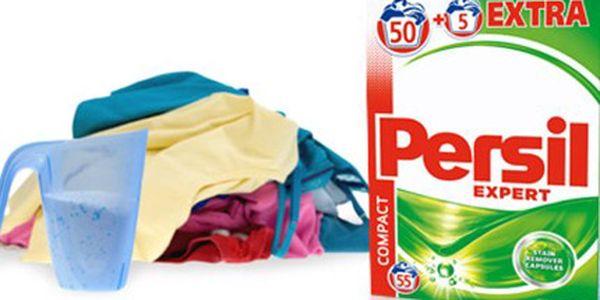 PRACÍ PRÁŠEK PERSIL Expert Regular: vystačí na 55 praní Balení PERSIL Expert Regular obsahující 55 pracích dávek. Koncentrovaný prací prášek na bílé i barevné prádlo s technologií Cold Active. Osobní odběr v Hradci Králové.