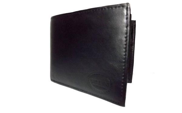 275,- Kč za pánskou černou koženou peněženku! Plaťte stylově! Sleva 50%!