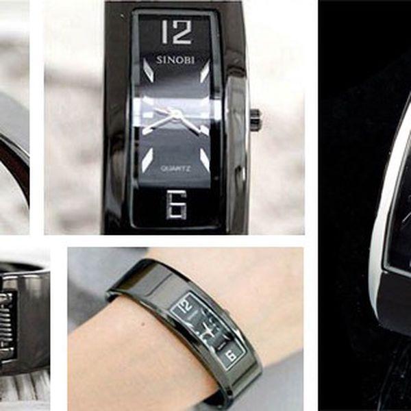Elegantní náramkové SINOBI hodinky s kovovým řemínkem v šedo-hnědé barvě, ideální do divadla nebo na koncert jako elegantní doplňek se slevou 74%!