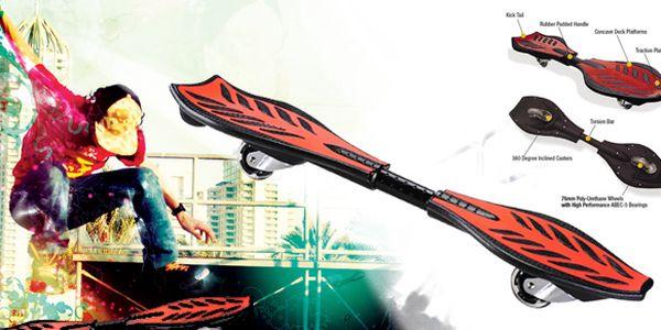 Novinka na trhu! Skateboard Ripstik - jedinečný zážitek z jízdy v carvingovém stylu s neuvěřitelnou slevou 50%!