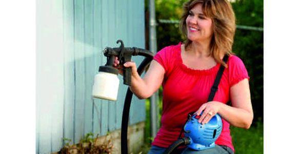 Pouhých 943 Kč za stříkací pistoli známou z televize! Vymalujte jednoduše a rychle všechny stěny vašeho domu nebo bytu!