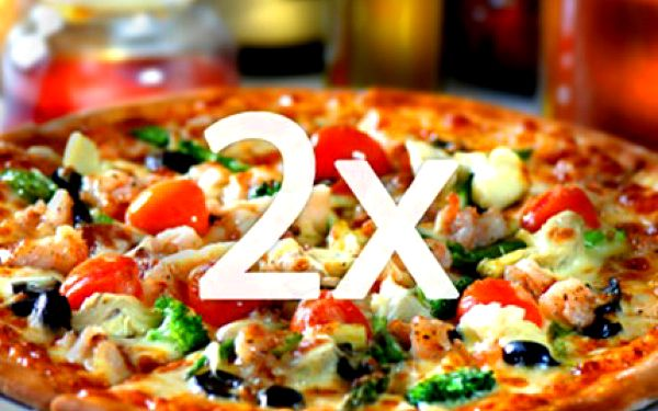 2x PIZZA pro 2 OSOBY: výběr ze 42 druhů Užijte si ve dvou 2 pizzy. Vybírat můžete ze 42 druhů s tenkým těstem a čerstvými ingrediencemi. Margherita, šunková, sýrová, špenátová, rustica, guseppe, hawaii, aj.
