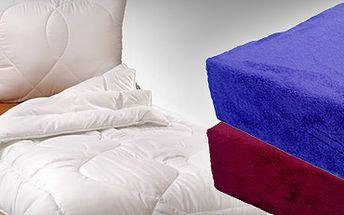 Prošívaná celoroční přikrývka s polštářem, nebo kvalitní prostěradlo z mikrovlákna se slevou 55% za 499 kč!! Užívejte si spánek ještě o něco více!! Vhodné i pro alergiky!!