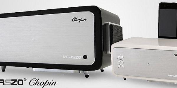 Designové reproduktory Verszo Chopin včetně dokovací stanice pro iPhone a iPod. Oblíbené hudební rytmy jaksepatří. Doprava zdarma!