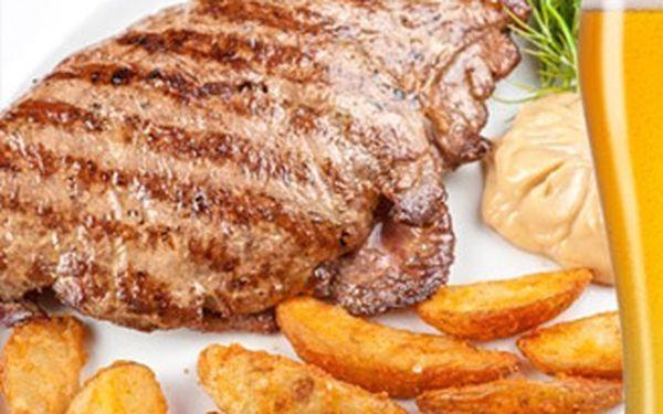 Neuvěřitelných 230,-Kč za 1kg šťavnatých vepřových steaků na lávovém grilu, 2x 200g přílohy (hranolky nebo americké brambory) a 2x jemně pikantní omáčka! Hostina pro všechny milovníky masa v restauraci Gurmán se slevou 65%.