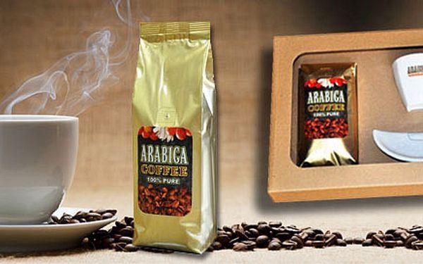 115 Kč za 200gramové balení lahodné mleté kávy Arabica Coffee 100% Pure. V nabídce i 500gramové nebo dárkové balení s hrnečkem.