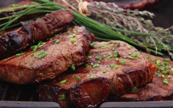 Kilo šťavnatých steaků! Zajděte si s přáteli na 1kg kuřecích či vepřových steaků z krkovičky. K tomu navíc 500g přílohy dle vašeho výběru!
