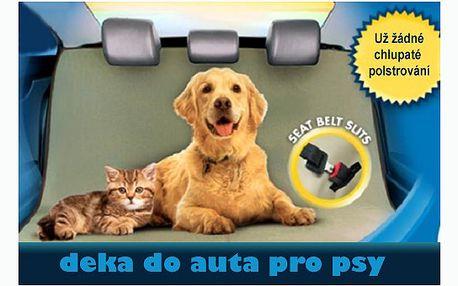 Pouhých 199 za ochrannou psí deku do auta! Deka PETzoom Loungee ochrání zadní sedadlo auta před špinavými tlapkami a chlupy domácích mazlíčků! Má univerzální velikost a připevníte ji za opěrky.