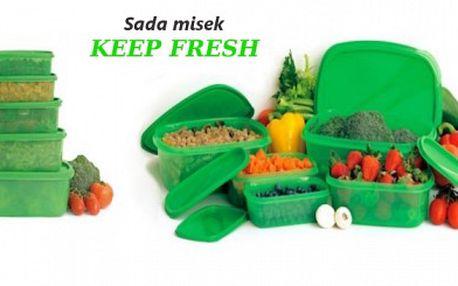 Sada dóz KEEP FRESH za skvělou cenu ! Pouhých 169 Kč za sadu pěti dóz KEEP FRESH, díky kterým zůstanou Vaše potraviny daleko déle čerstvé ! Využijte slevy 72 % !