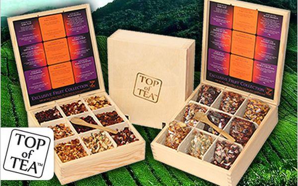 Obdarujte své nejbližší luxusní dřevenou kazetou sušených čajů prvotřídní kvality