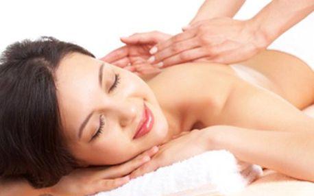 ZDRAVOTNÍ MASÁŽ: 60 minut pro odstranění příčiny bolesti zad 60 minut zdravotní masáže - speciálních masážních technik a hmatů. Působí proti bolesti zad, protistresově a je prospěšná i pro lymfatický systém.