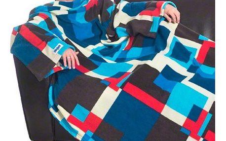 Jedinečná deka s rukávy - geometrická