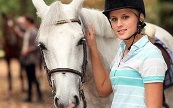 VYJÍŽĎKA NA KONI: hodina nebo 45 minut v sedle Hodinová vyjížďka volnou přírodou pro dospělé nebo 45 min v jízdárně pro děti. Součástí je také prohlídka stájí, ukázka péče o koně a nápoj. Vše pod dozorem instruktora.