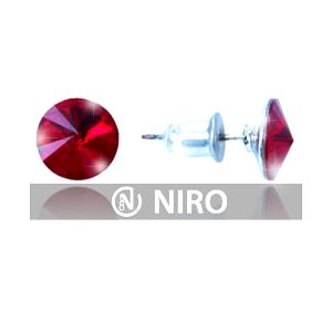 ELEGANTNÍ 2 páry náušnic – zdobené broušenými kamínky SWAROVSKI 8 mm v 8 barvách. Navíc 25% sleva na nákup zboží ve-shopu Niro.cz