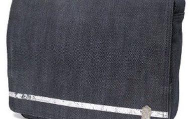 """DŽÍNOVÁ BRAŠNA na notebook 11.6"""" s popruhem na rameno v černé barvě – kolekce DENIM značky GOLLA"""