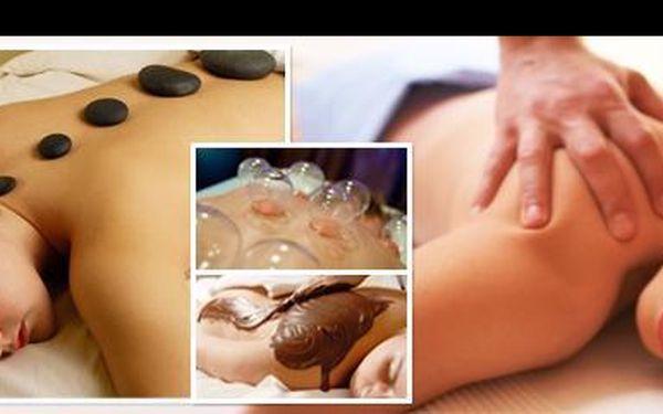Dopřejte si úžasný relax! Jen za 199 Kč si můžete vybrat ze 4 druhů masáží: čokoládovou, lávové kameny, masáž zad a šíje, či oblíbené baňkování!