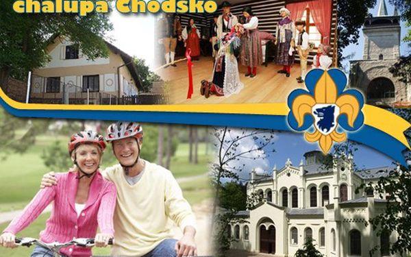 Báječných 6622 Kč za PRONÁJEM CHALUPY NA CELÝ TÝDEN v Pocinovicích v Regionu Chodsko!!! 5 lůžek + 2 přistýlky, 4 místnosti, velký dvůr s grilem …Sleva 48%!