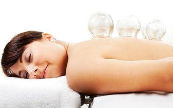 Baňkování a baňková masáž se slevou 63 %! 45minutová procedura uvolní ztuhlé svaly a uleví od bolesti zad a krku!