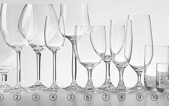 Luxusní sada sklenic za 329 Kč. 6 ks speciálních sklenic potažených titanem, který je chrání před poškrábáním. Designové a dlouho krásné sklenice na víno, pivo, sekt, koňak, whisky nebo vodu.