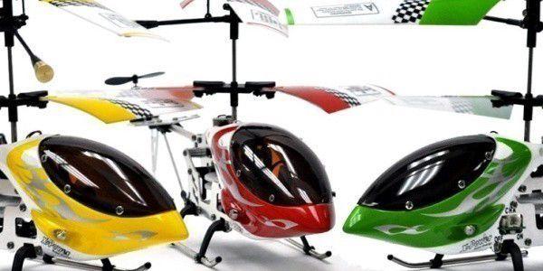 Helikoptéra MAX-Z Swift s LED diodami pro létání v noci a systémem dvojí vrtule
