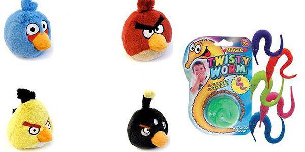 Populární hračky Angry Birds se slevou 54 %! Plyšák Angry Birds a neposedný červík – dvě hračky za skvělou cenu 138 Kč. Potěšte své ratolesti, Den dětí se blíží.