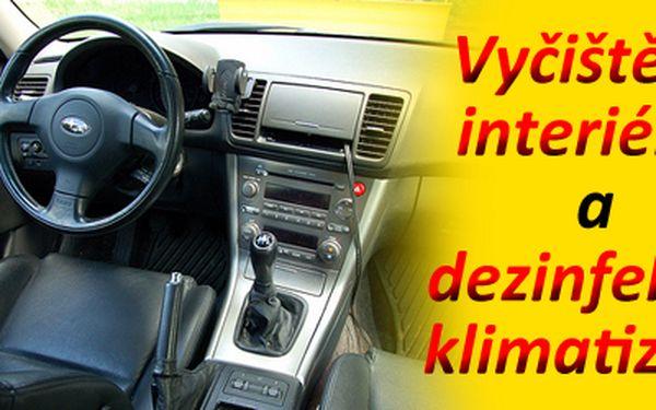 Vyčištění interiéru + dezinfekce klimatizace za neskutečnou cenu 240 Kč! Dopřejte vašemu vozu servis, který si zaslouží. Připravte se na horké léto a jezděte v chládku. Nyní se slevou 50%!