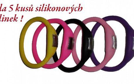 Sada náramkových silikonových hodinek ! Jen 199 Kč za sadu 5 kusů silikonových hodinek včetně poštovného, vhodných nejen pro sport ! Nyní za skvělou cenu !